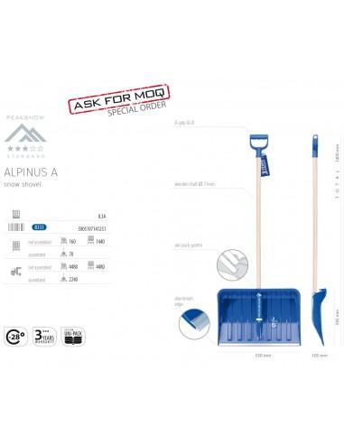 Lopata pentru zapada 140x55cm, Alpinus A