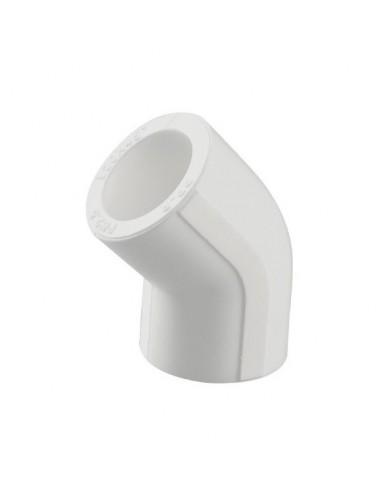 Cot PPR alb, 40 mm, 45 grade