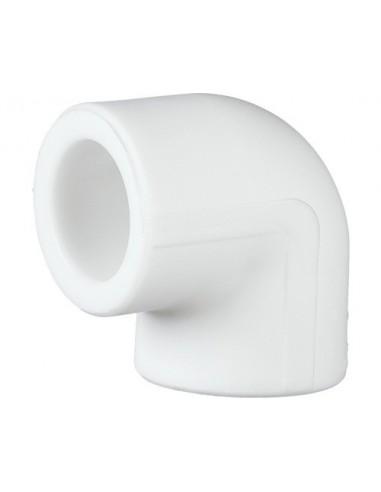 Cot PPR alb, 20 mm, 90 grade
